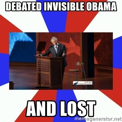 Invisible Obama - debated invisible obama and lost