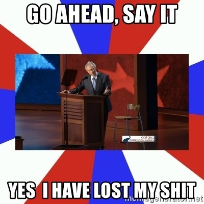 Invisible Obama - Go ahead, say it Yes  I have lost my shit