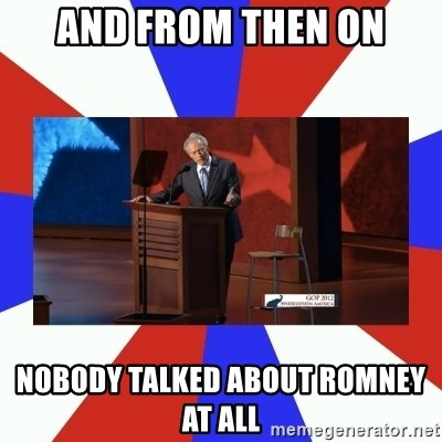 Invisible Obama - And from then on Nobody talked about Romney at all