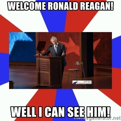 Invisible Obama - Welcome Ronald Reagan! Well I can see him!