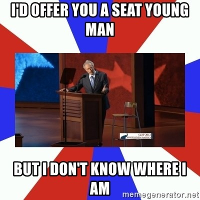 Invisible Obama - I'd offer you a seat young man But i don't know where i am