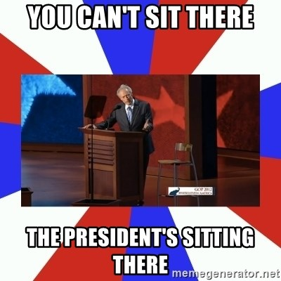 Invisible Obama - You Can't Sit There The President's Sitting There