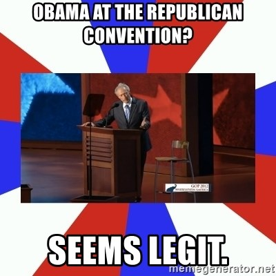 Invisible Obama - OBAMA AT THE REPUBLICAN CONVENTION? SEEMS LEGIT.