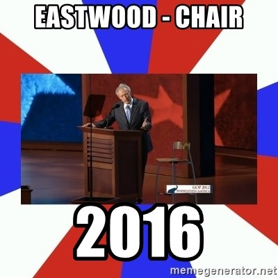Invisible Obama - Eastwood - Chair 2016