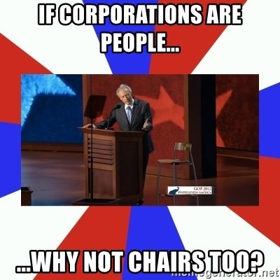 Invisible Obama - IF CORPORATIONS ARE PEOPLE... ...WHY NOT CHAIRS TOO?