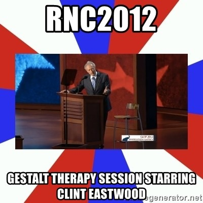 Invisible Obama - RNC2012 Gestalt Therapy session Starring Clint Eastwood