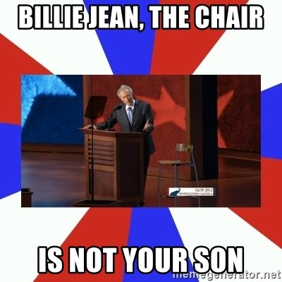 Invisible Obama - billie jean, the chair is not your son