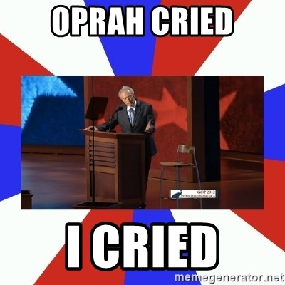 Invisible Obama - Oprah cried I cried