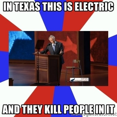 Invisible Obama - in texas this is electric and they kill people in it