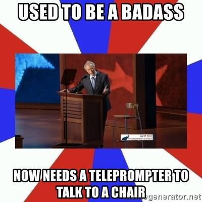 Invisible Obama - used to be a badass NOW needs a teleprompter to talk to a chair