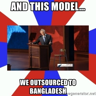 Invisible Obama - And This model... We outsourced to Bangladesh