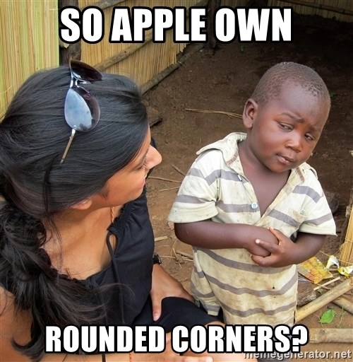 Skeptical African Child - so apple OWN rounded corners?
