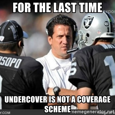 Knapped  - for the last time undercover is not a coverage scheme