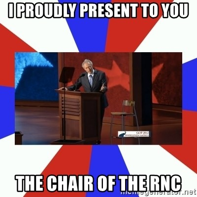 Invisible Obama - I proudly present to you the chair of the rnc