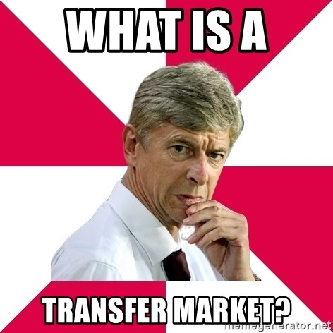 wengerrrrr - what is a  transfer market?