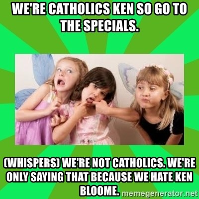 CARO EMERALD, WALDECK AND MISS 600 - we're catholics ken so go to the specials. (whispers) we're not catholics. we're only saying that because we hate ken bloome.