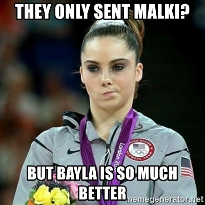 Not Impressed McKayla - they only sent malki? but bayla is so much better