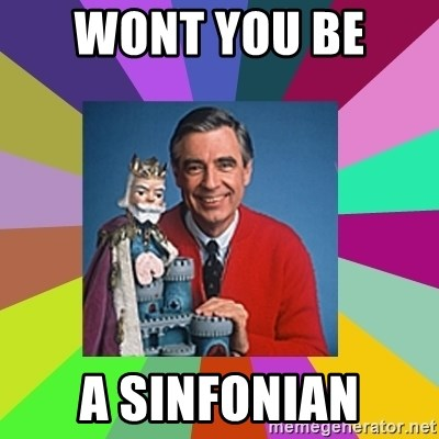 mr rogers  - Wont you be  a sinfonian