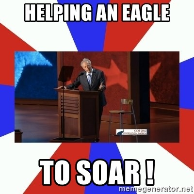 Invisible Obama - Helping An Eagle TO SOAR !