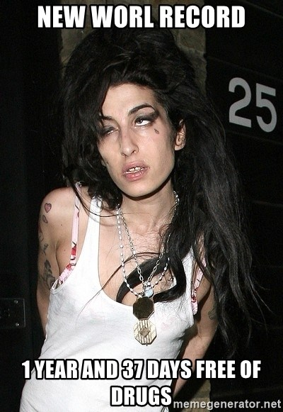 Amy Winehouse - New worl record 1 year and 37 days free of drugs
