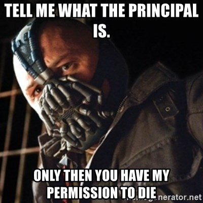 Only then you have my permission to die - tell Me what the principal is.  Only then you have my permission to die