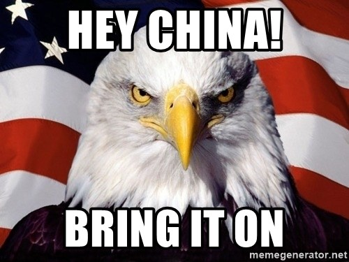 American Pride Eagle - hey china! bring it on