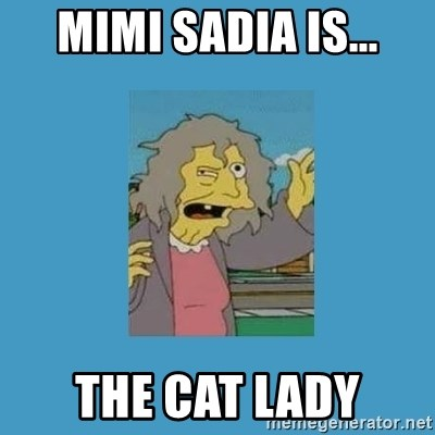 crazy cat lady simpsons - Mimi sadia is... the cat lady