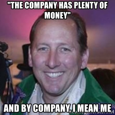 """Pirate Textor - """"the company has plenty of monEy"""" And by company, I mean me"""