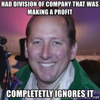 Pirate Textor - HAd division of company that was making a profit completetly ignores it