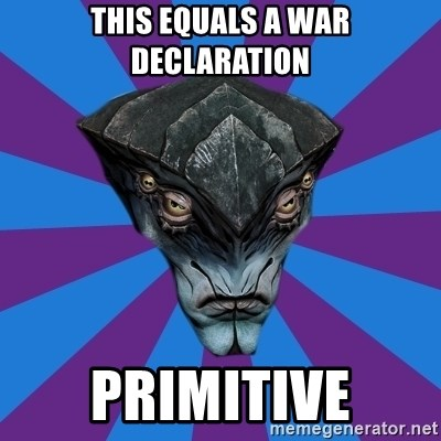 Javik the Prothean - This equals a war declaration Primitive