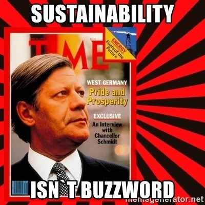Helmut looking at top right image corner. - Sustainability ISN`T BUZZWORD