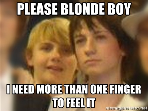 Thoughtful Child - please blonde boy i need more than one finger to feel it