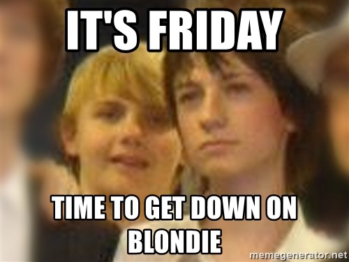 Thoughtful Child - it's friday time to get down on blondie
