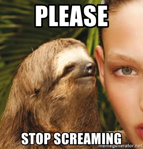 The Rape Sloth - Please Stop screaming