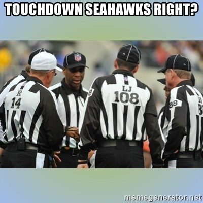 NFL Ref Meeting - Touchdown Seahawks Right?