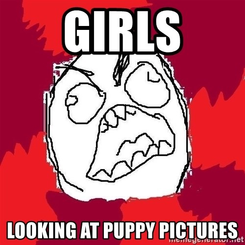 Rage FU - Girls Looking at puppy pictures