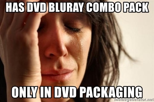 First World Problems - has DVD BluRay combo pack only in DVD packaging