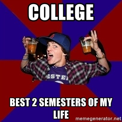 Sunny Student - college best 2 semesters of my life