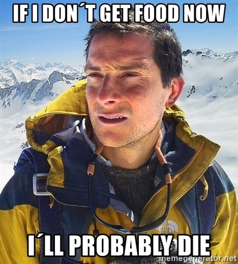 Bear Grylls Loneliness - If I don´t get food now i´ll probably die