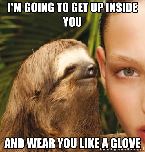 The Rape Sloth - I'm going to get up inside you and wear you like a glove