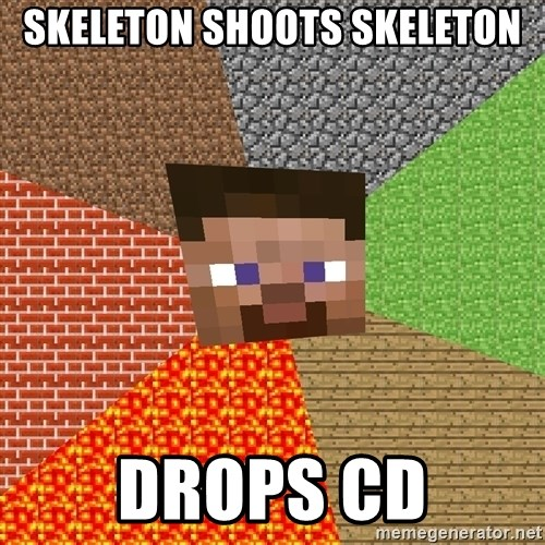 Minecraft Guy - SKELETON SHOOTS SKELETON DROPS CD