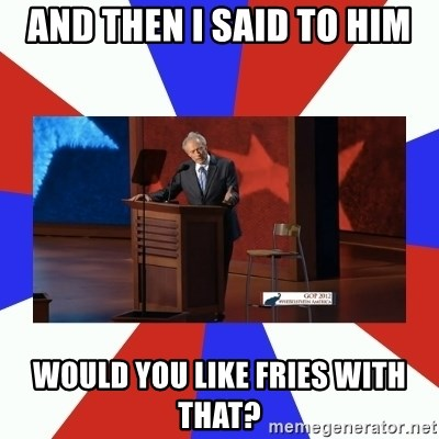 Invisible Obama - AND THEN I SAID TO HIM WOULD YOU LIKE FRIES WITH THAT?