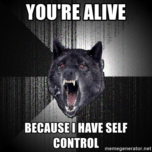 Insanity Wolf - You're alive because I have self control
