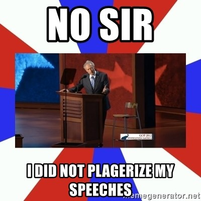 Invisible Obama - No sir  I did not plagerize my speeches