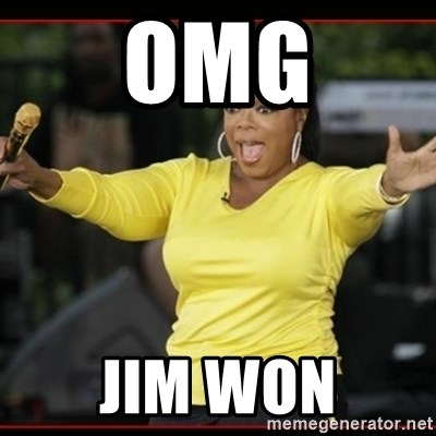 Overly-Excited Oprah!!!  - OMG Jim WON