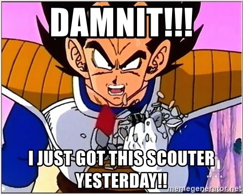 Over 9000 - damnit!!! i just got this scouter yesterday!!