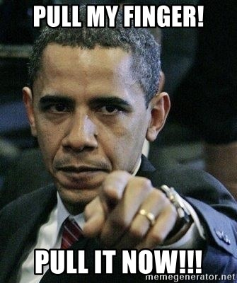 Pissed Off Barack Obama - pull my finger! pull it now!!!