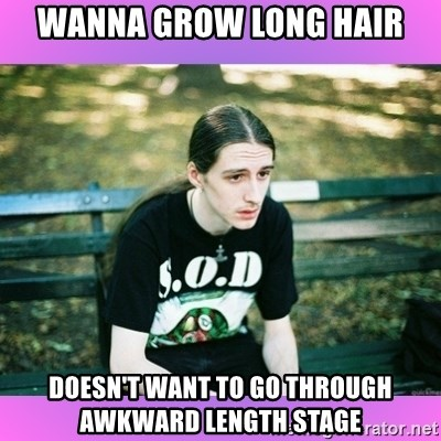 First World Metal Problems - Wanna grow long hair Doesn't want to go through awkward length stage
