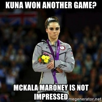 Unimpressed McKayla Maroney - kuna won another game? Mckala Maroney is not impressed