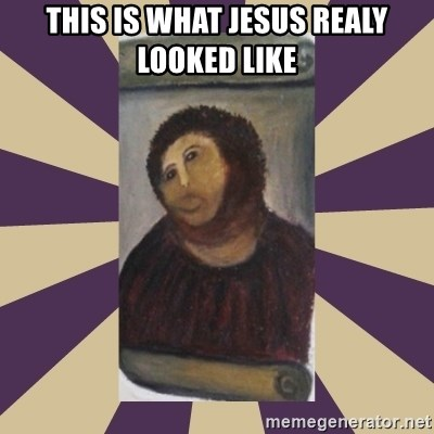 Retouched Ecce Homo - This is what jesus realy looked like